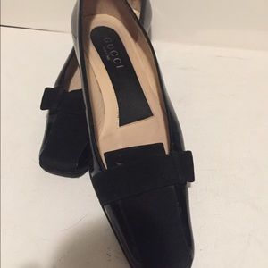 Gucci Shoes - 💯Authentic Gucci Block Black Leather&Sude Heels